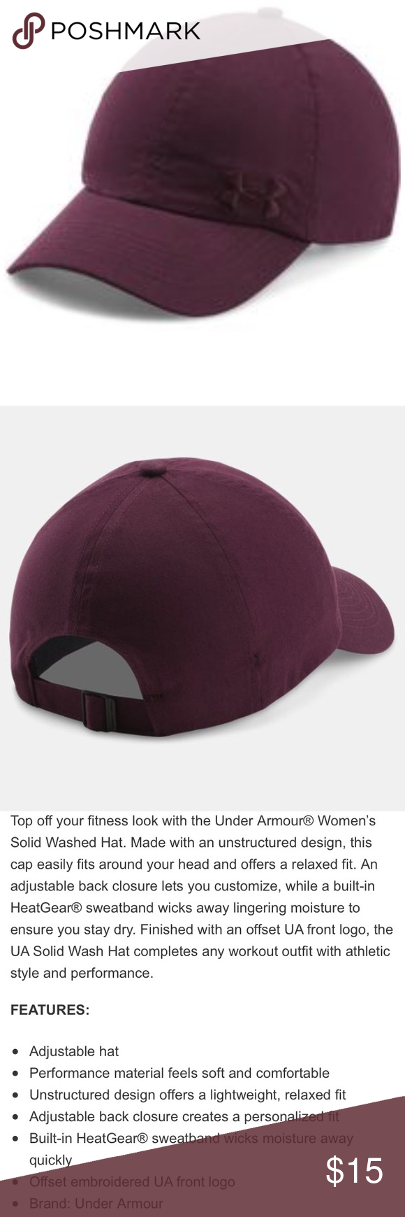 NWT Women s Under Armour Burgundy Baseball Cap Hat New with Tags! Under  Armour Accessories Hats dbe574ede36a
