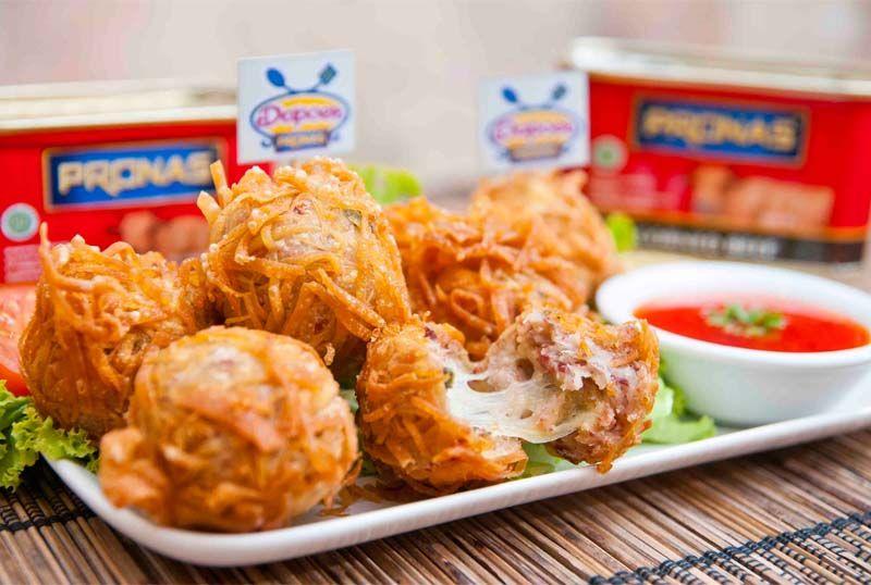 Perkedel Bentul Rambutan Kornet Pronas Isi Mozarella Food Indonesian Food Mozarella