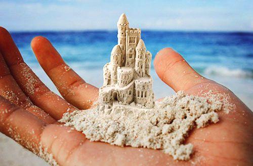 dreams within reach....I love this! #sandcastles #beach #summer