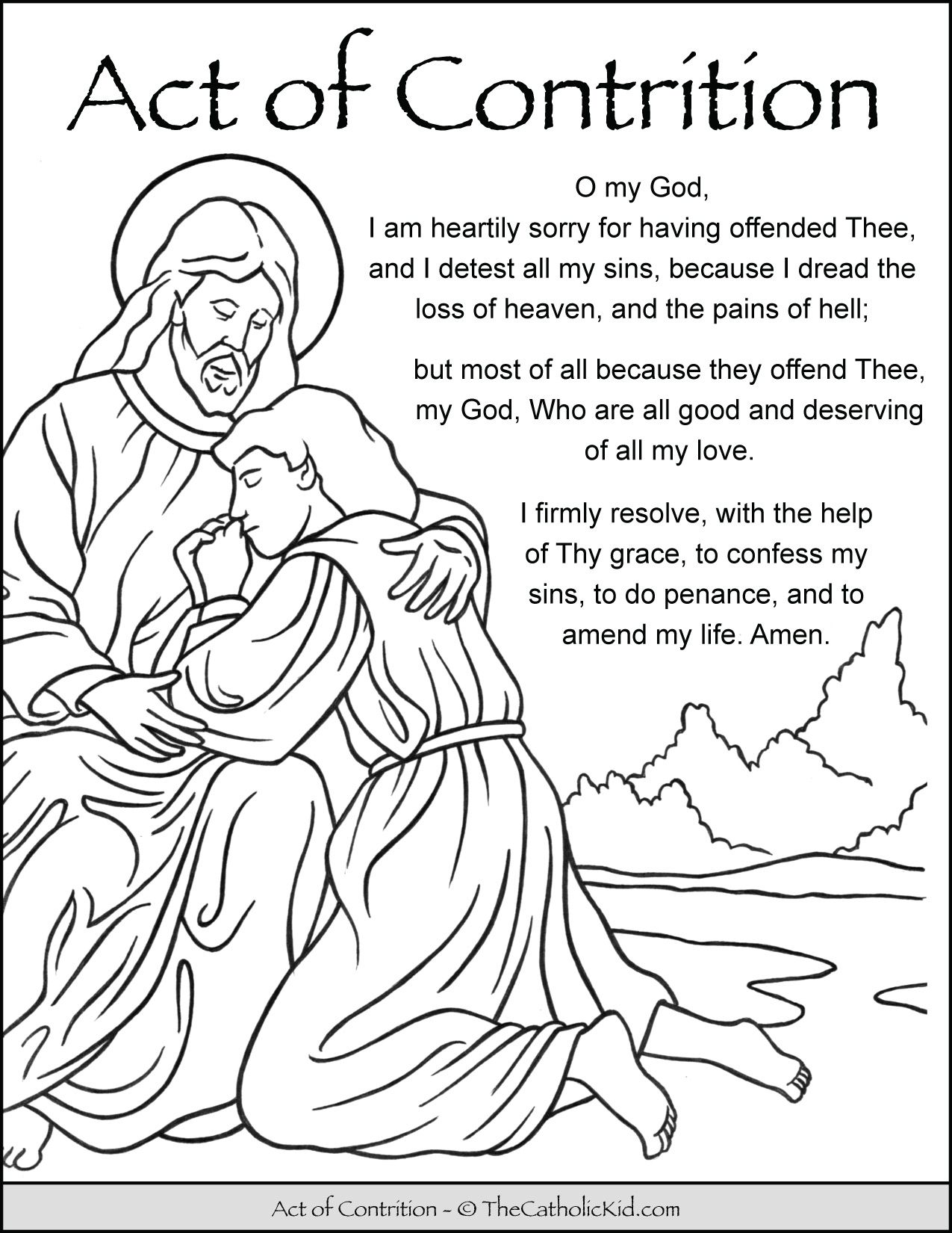 Pin On Catholic Prayers Coloring Pages