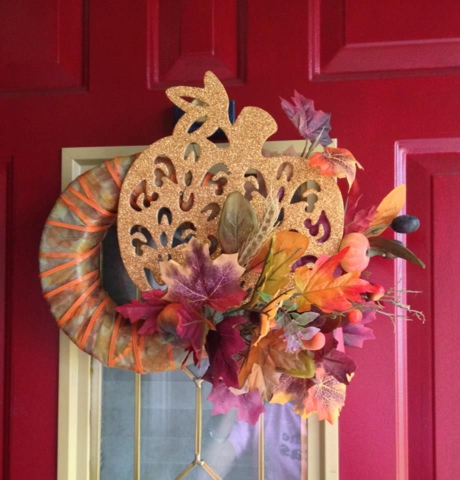 Dollar store fall wreath less than 10 minutes and under 8 in dollar store fall wreath less than 10 minutes and under 8 in supplies izmirmasajfo Choice Image