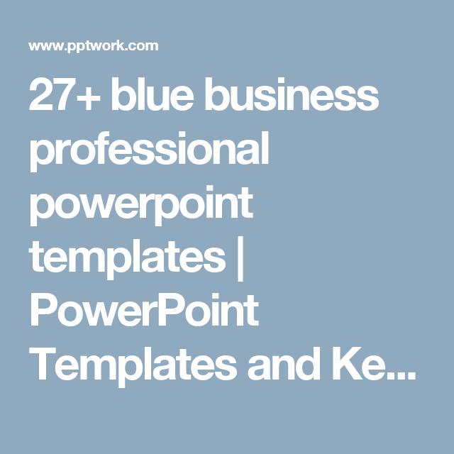 27+ blue business professional powerpoint templates | powerpoint, Modern powerpoint