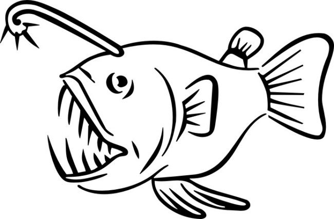 Angler fish colouring pages