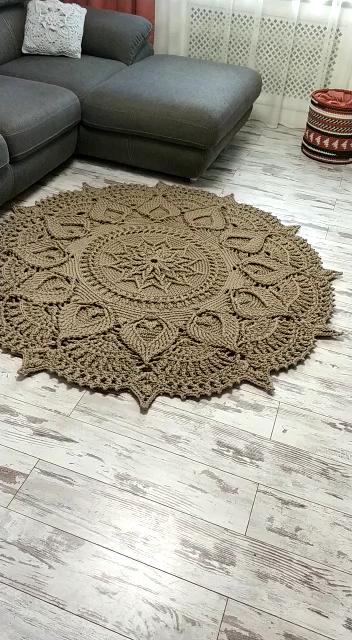 Photo of Crochet floor rug – Video & PDF tutorials. See all carpet patterns ?