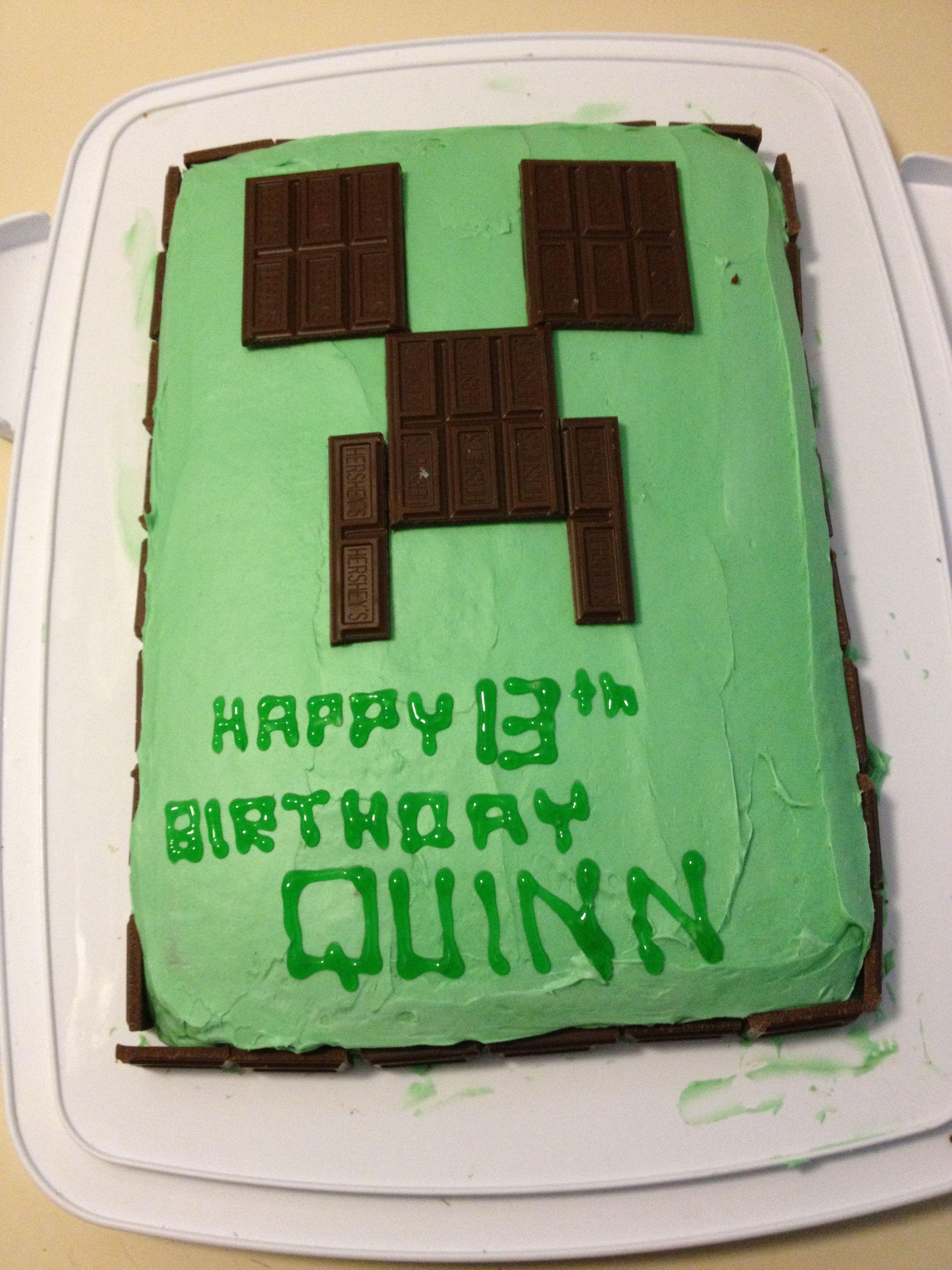 Mine Craft Cake Easy Minecraft Cake Minecraft Cake Minecraft Birthday Cake
