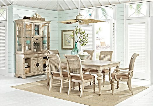 Cindy Crawford Home Key West Sand 5 Pc Rectangle Dining Room ...