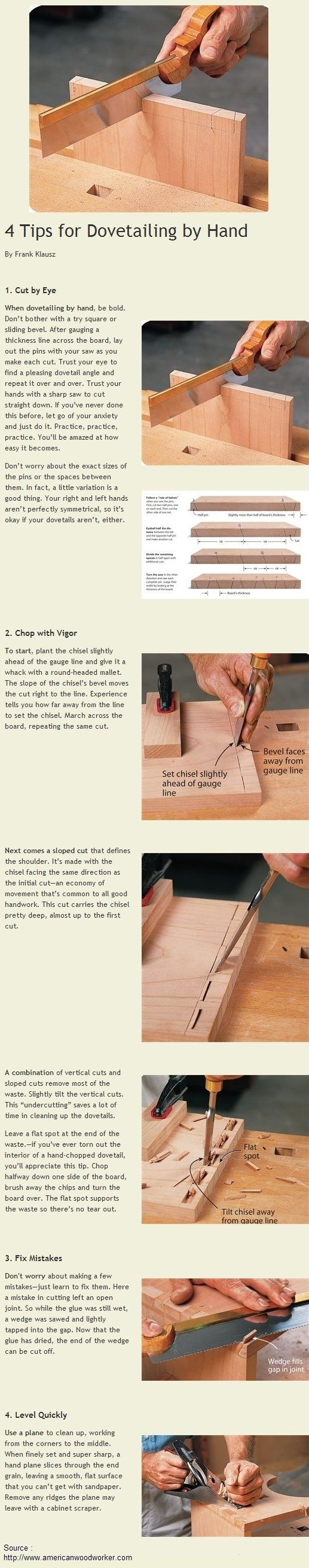 4 Tips for Dovetailing by Hand