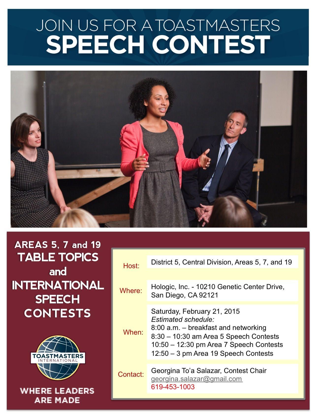 Areas 5 7 19 Spring Contest 2015 Public Speaking Community Organizing Contest