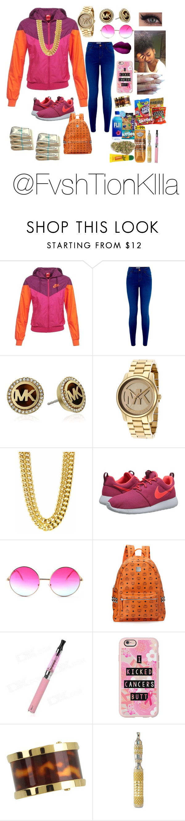 """""""Untitled #69"""" by fvshtionkilla ❤ liked on Polyvore featuring NIKE, Michael Kors, Janis, MCM, Casetify and Carmex"""