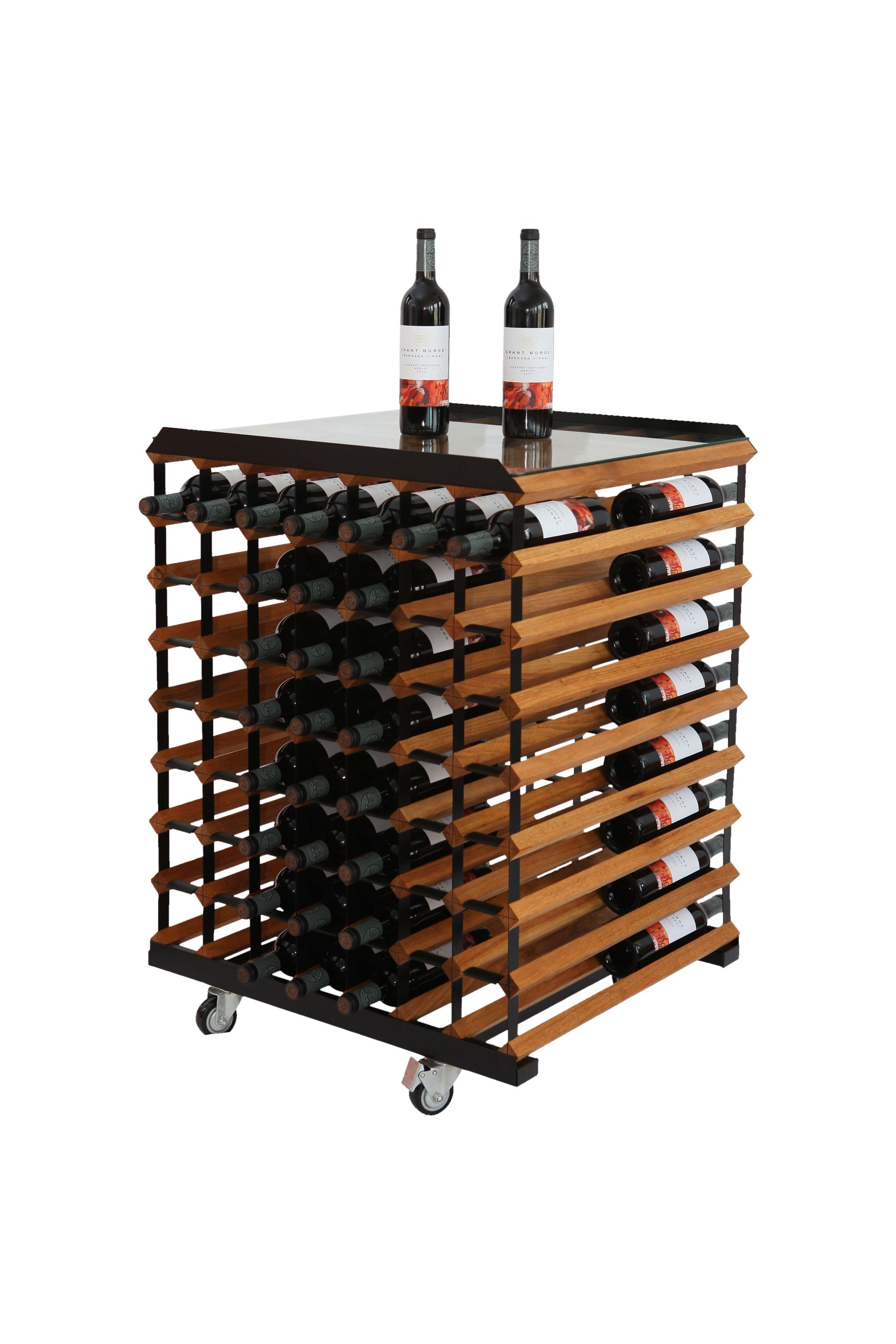 wine bottle storage furniture. BOXX Mobile Tasting Table For 102 Bottles Of Wine. Black Painted Steel And  Walnut Timber Makes This Beautiful Wine Rack Furniture Bottle Storage
