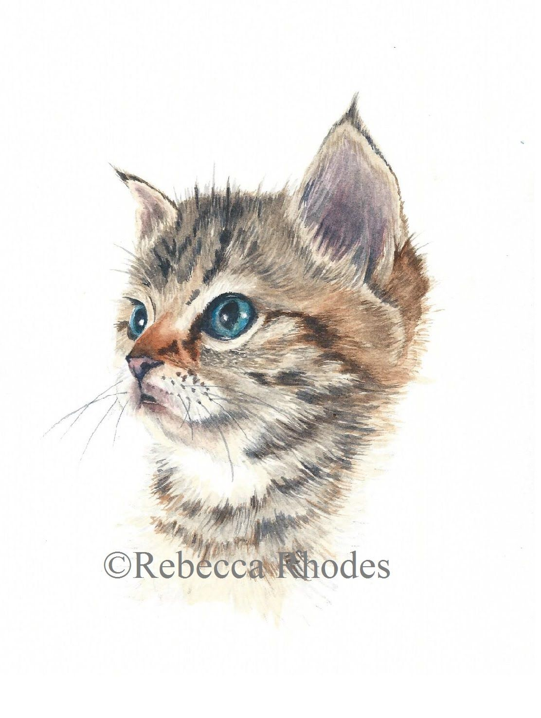 In This Tutorial You Will Learn How To Paint A Cute Kitten In Wat