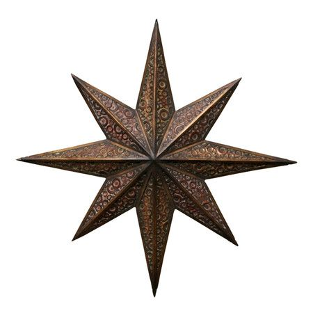 Metal Star Wall Decor With Weathered Details. Product: Wall  DcorConstruction Material: MetalColor: