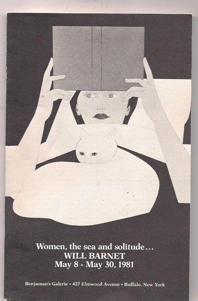 Will Barnet Exhibition Poster 1981 Women The Sea And Solitude