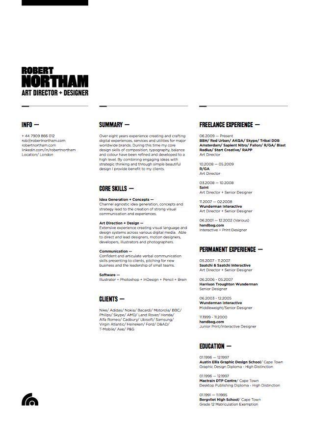 creative arts portfolio resume
