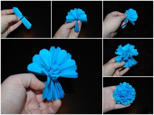 Hanging Tissue Paper Flowers Step 3 Tissue Paper Flowers Tissue