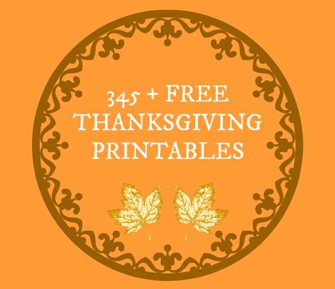 Here s a list of over free thanksgiving printables
