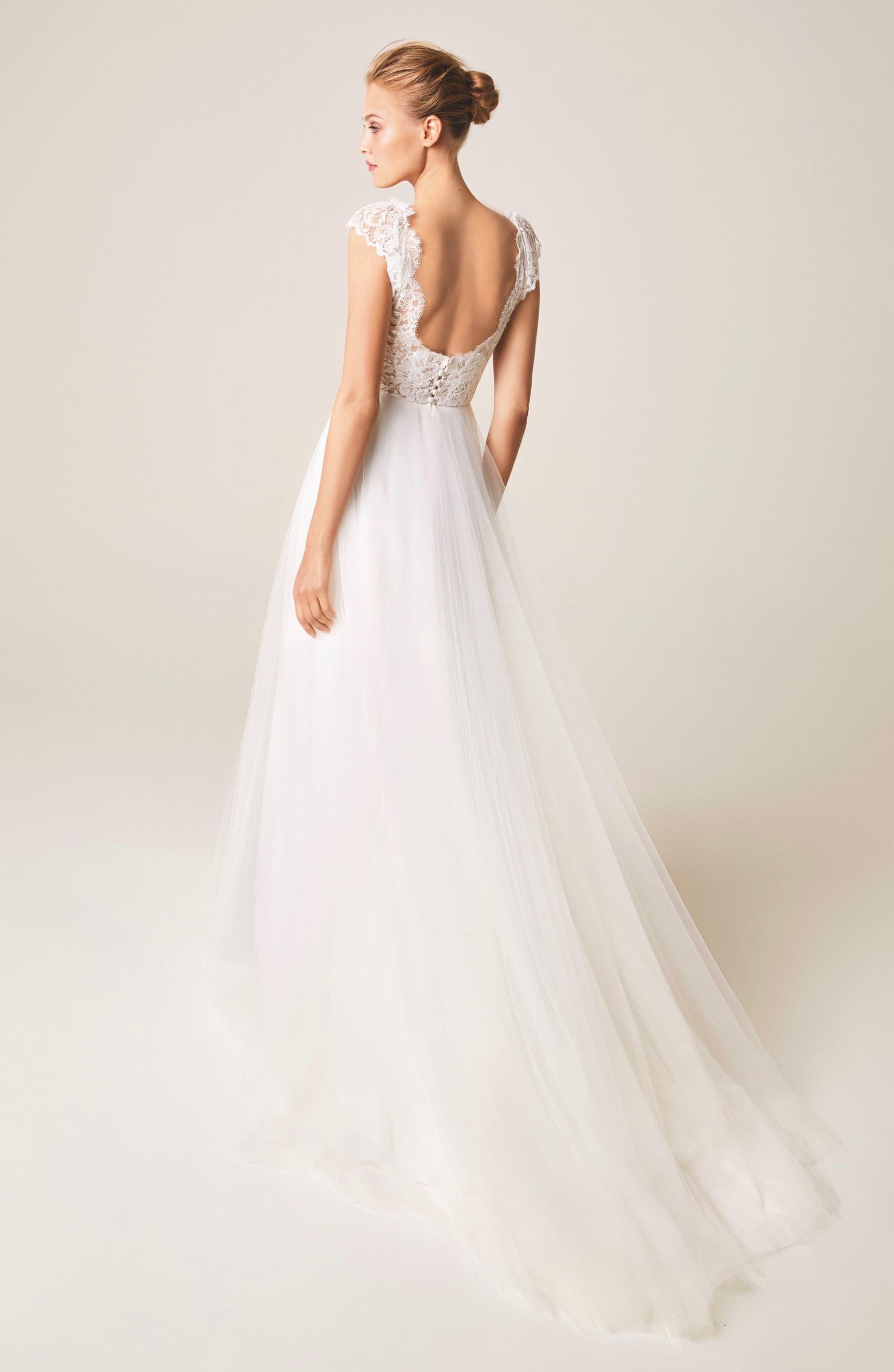 Jesus Peiro V Neck Cap Sleeve Wedding Dress Nordstrom Wedding Dress Cap Sleeves Wedding Cap Sleeves Wedding Dresses Lace