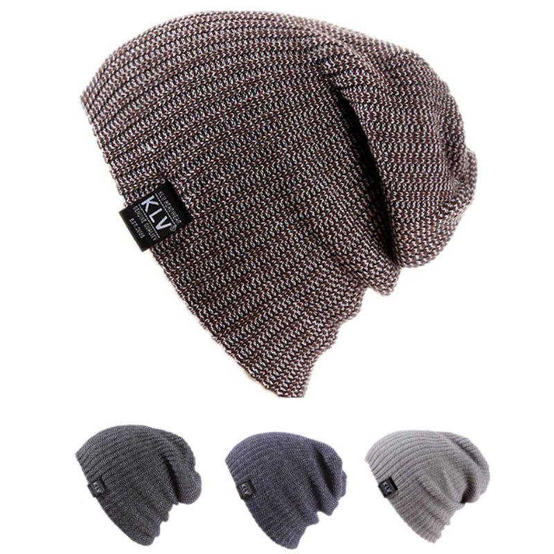 e7bc6610447 Click to Buy    Fashion Mens Ladies Knitted Winter Oversized Slouch Beanie  Hat Skateboard Cap  Affiliate. Women Winter Skull Men ...