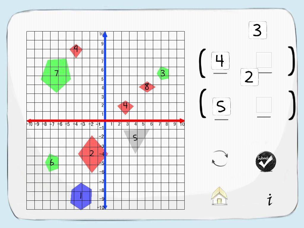 Grid Lines Ordered Pair Game App
