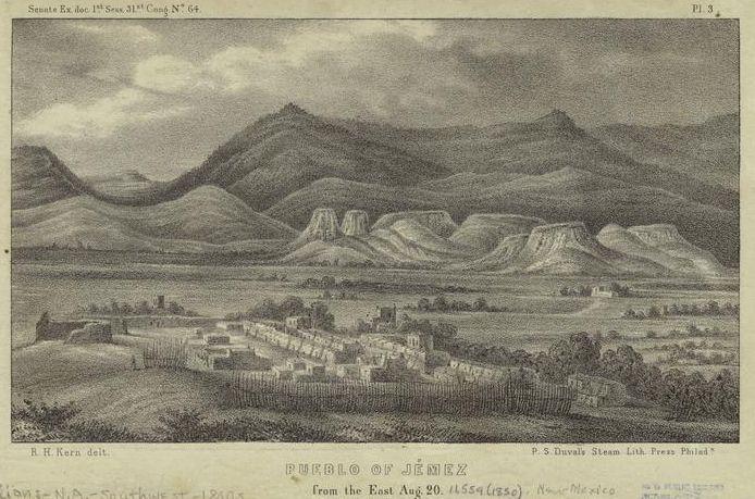Jemez Pueblo in Sandoval County, New Mexico.