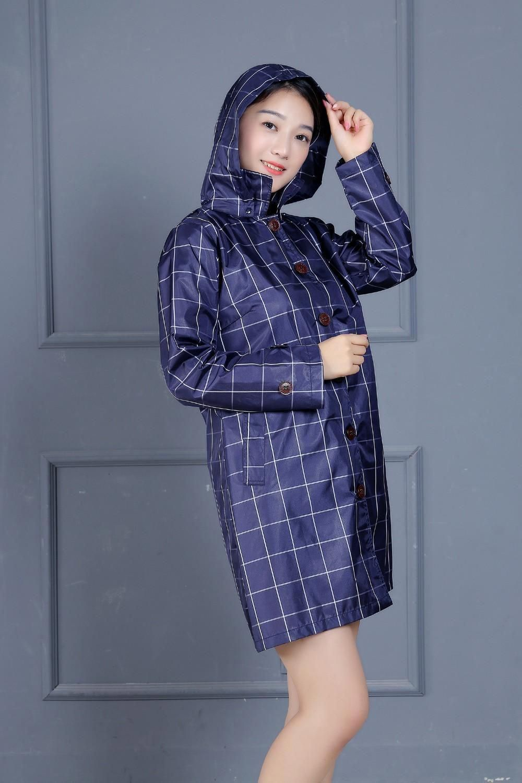 2cab64fc3 Long Thin Raincoat Women Waterproof hood Light Rain Coat Ponchos Jackets  cloak Female capa de chuva