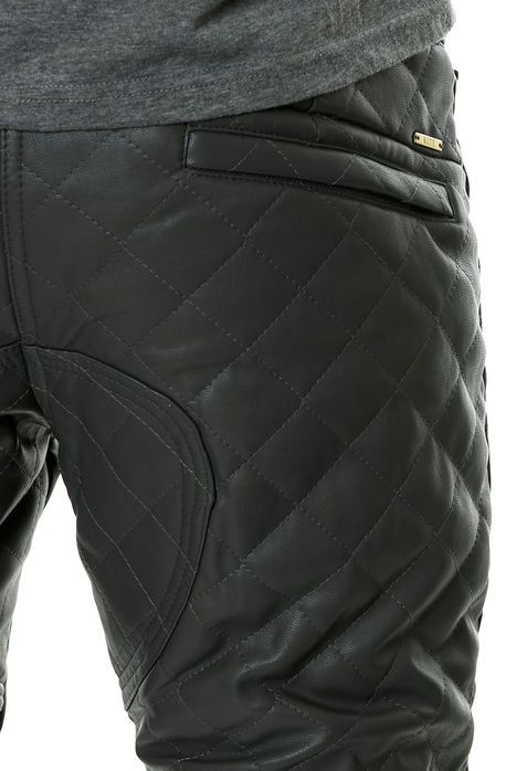 KITE Pants Diamond PU Joggers in Charcoal Grey - Karmaloop.com
