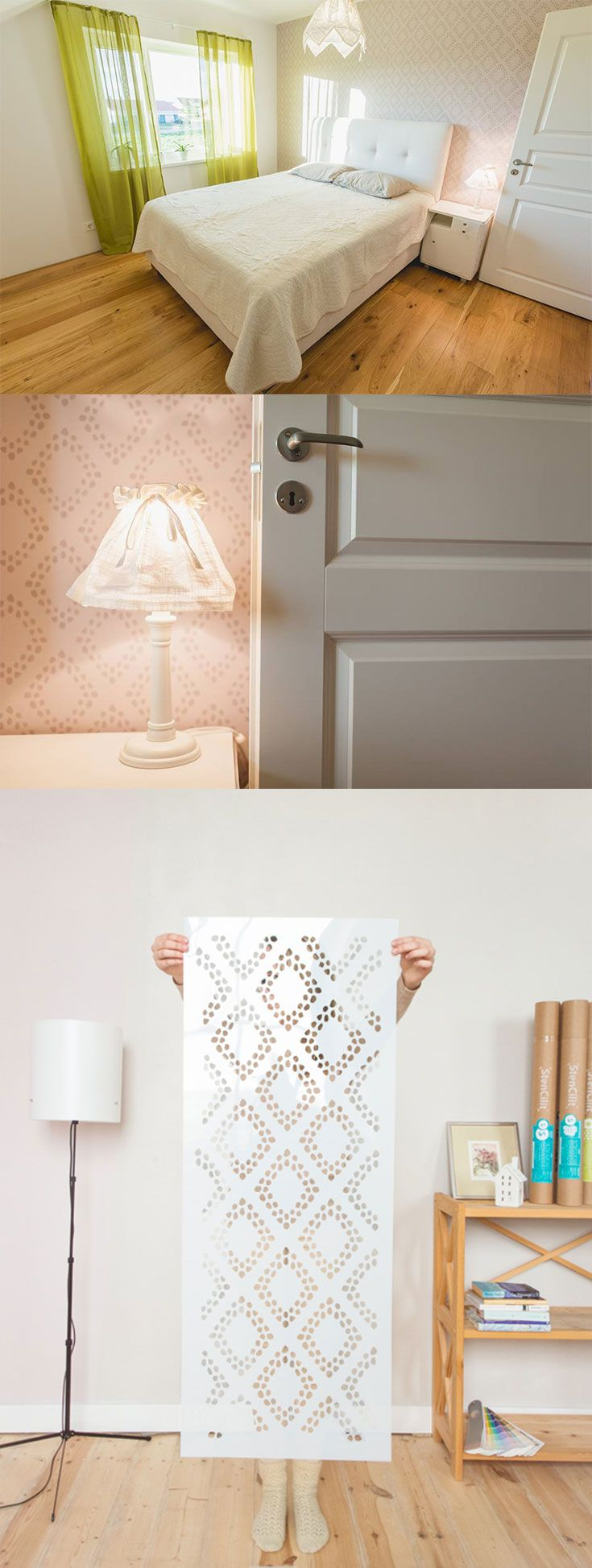 Yet another great interior wall decor done with diamonds wall yet another great interior wall decor done with diamonds wall stencil bright and cosy scandinavian amipublicfo Image collections