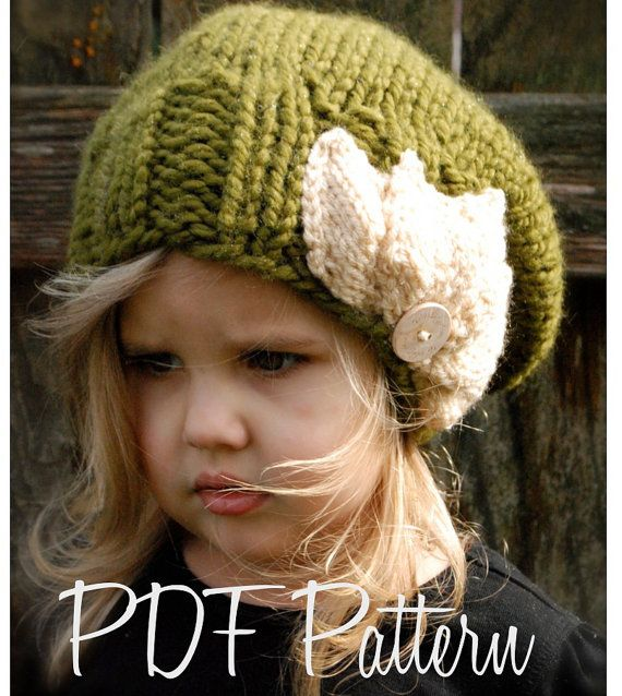 Knitting PATTERN-The Setiya Slouchy (Toddler, Child and Adult sizes ...