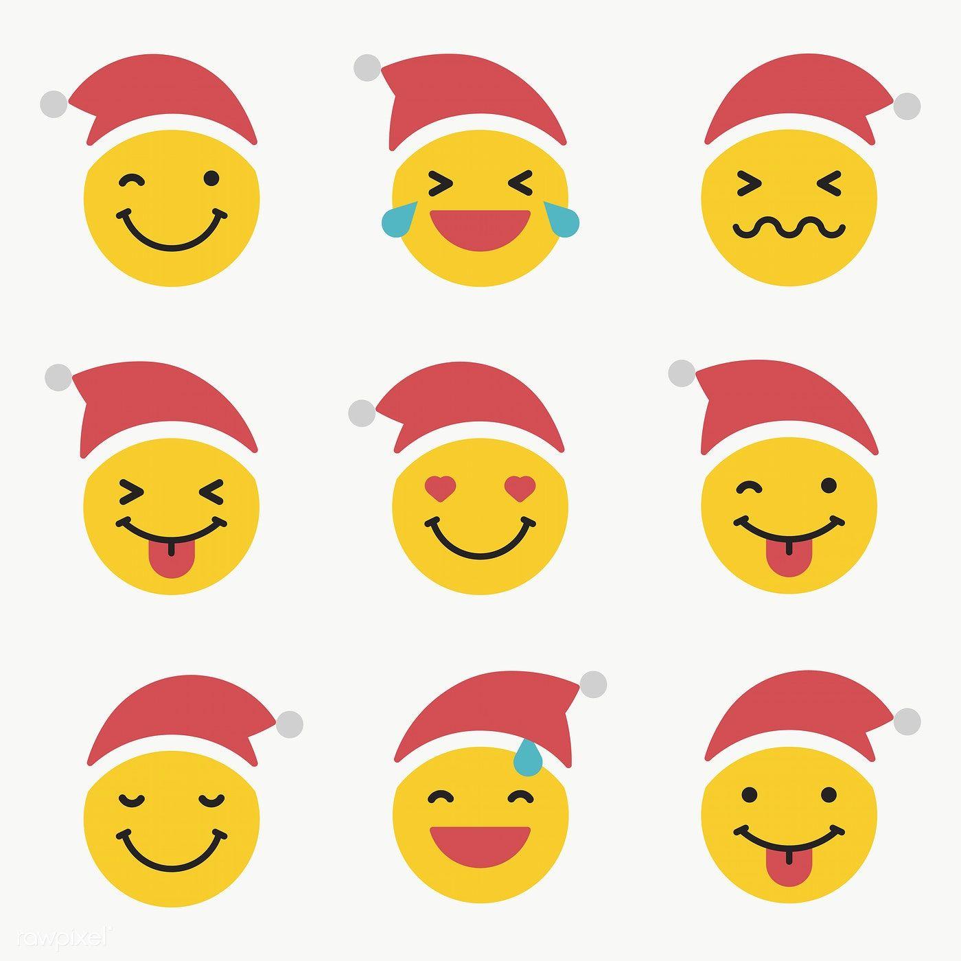 Christmas Sticker With Imogi Santa Claus Square Sticker Zazzle Com In 2021 Christmas Emoticons Funny Emoticons Emoji Christmas