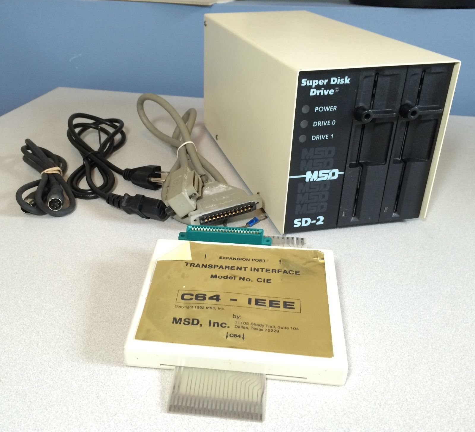 MSD SD 2 Super Disk Drive and CIE IEEE 488 cartridge
