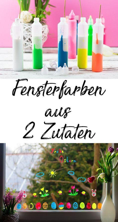 Geniale Fensterdeko für Ostern mit Kindern basteln - Mama Kreativ