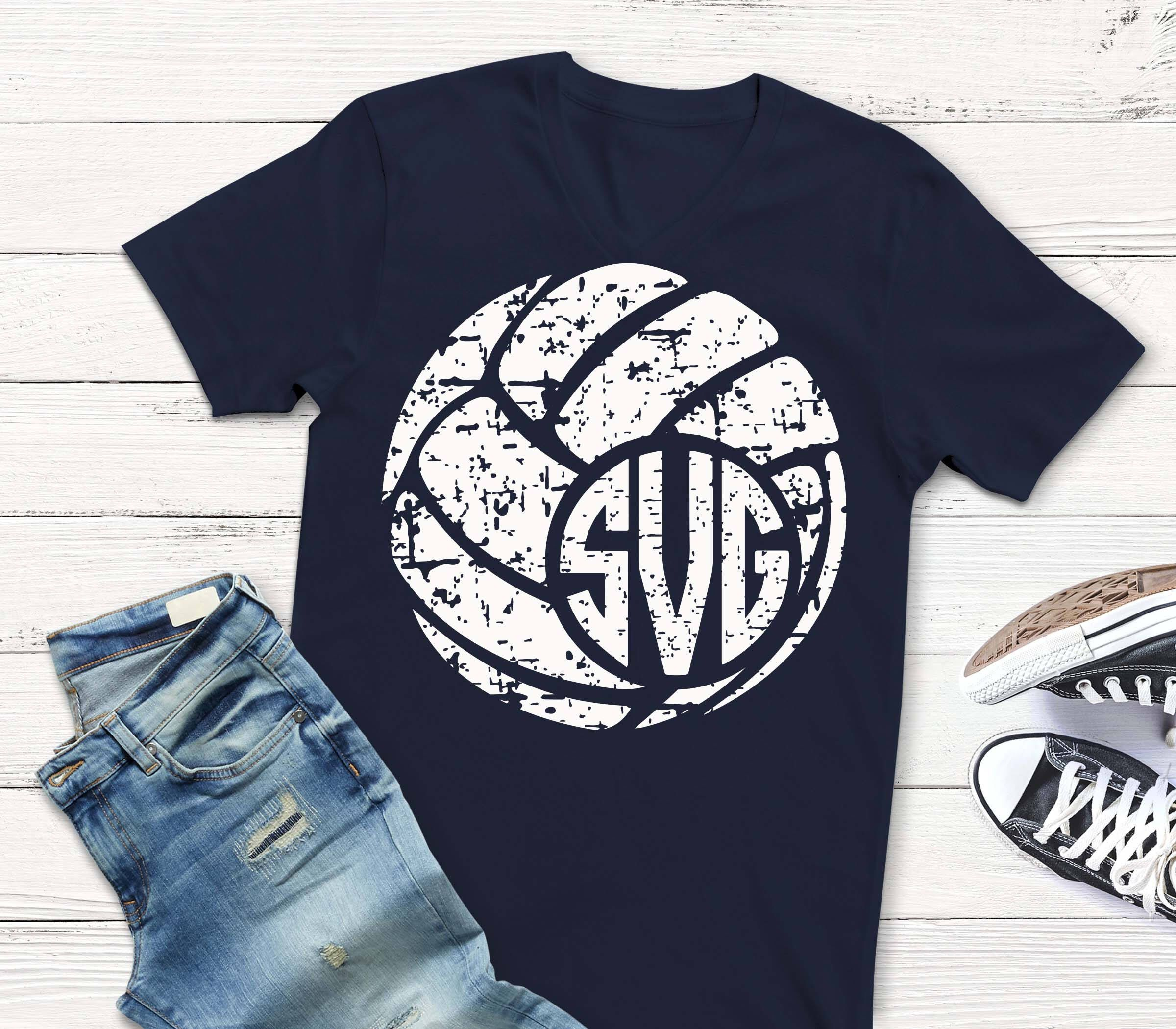 Volleyball Svg Distressed Svg Monogram Svg Volleyball Dxf Etsy Volleyball Shirt Designs Cute Volleyball Shirts Volleyball Shirts
