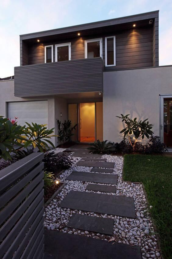 33 Small Front Garden Designs To Get The Best Out Of Your Small Space Modern Front Yard Modern Landscaping Front Yard Design