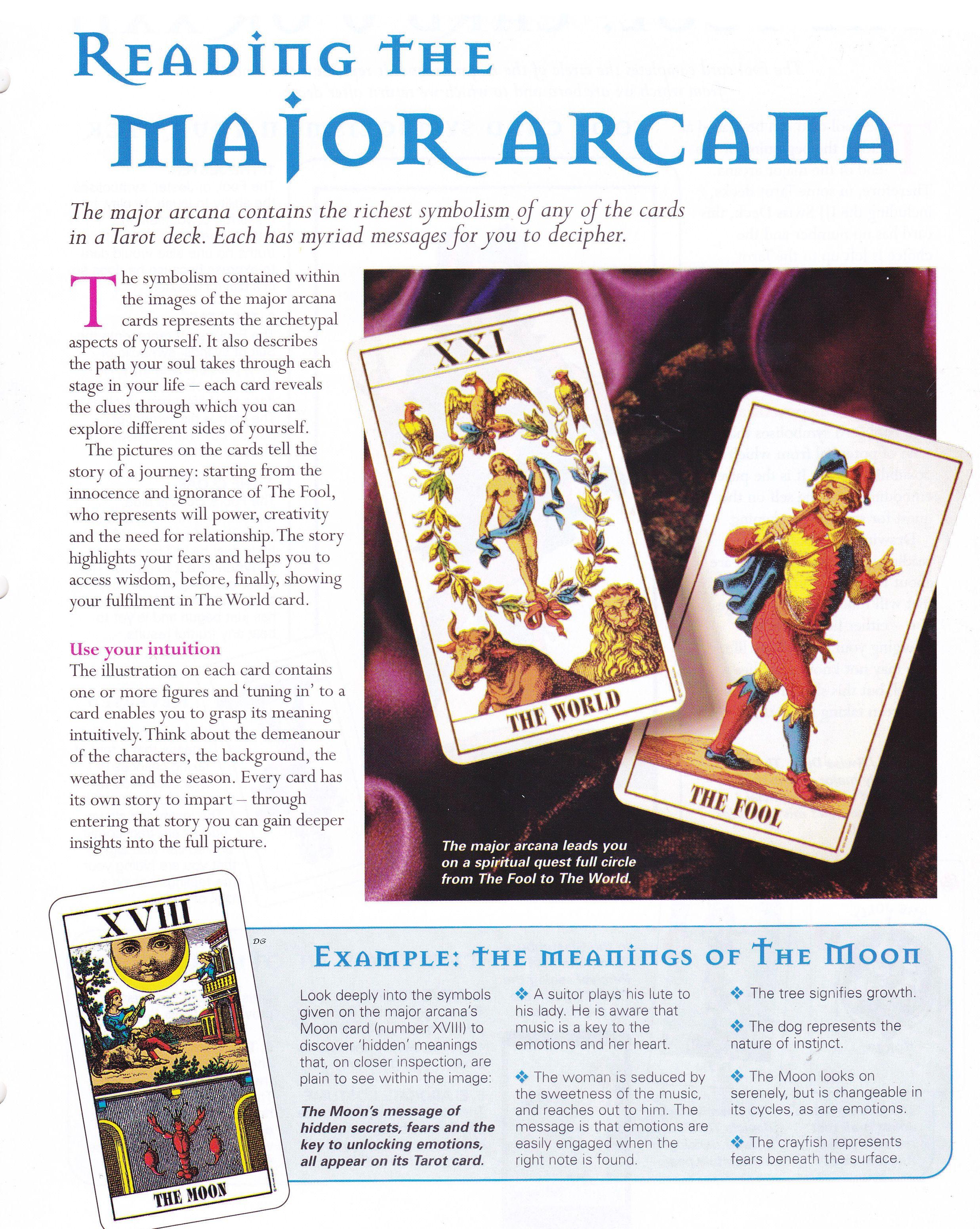 Arcane mysteries reading the major arcana tarot