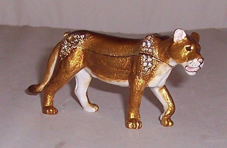 Lioness Decorative Trinket Box