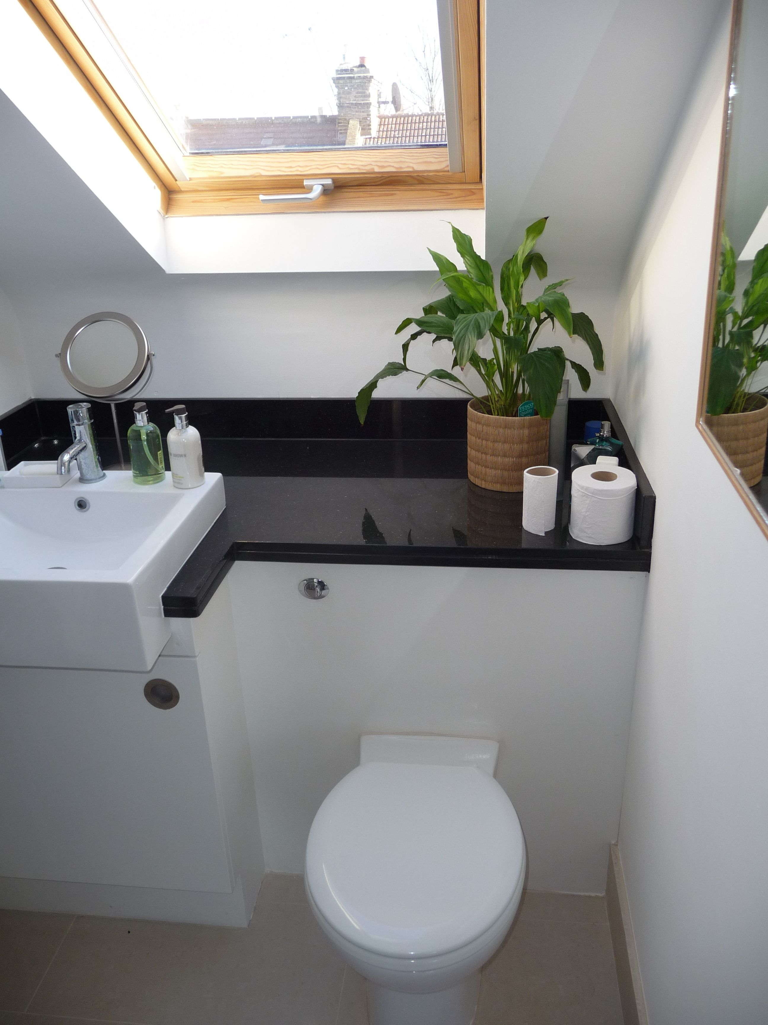 Superb Small Loft Bathroom Ideas Part - 10: Ensuite For A Loft Bedroom (How To Build A Shed With A Loft). Small Attic  BathroomLoft ...