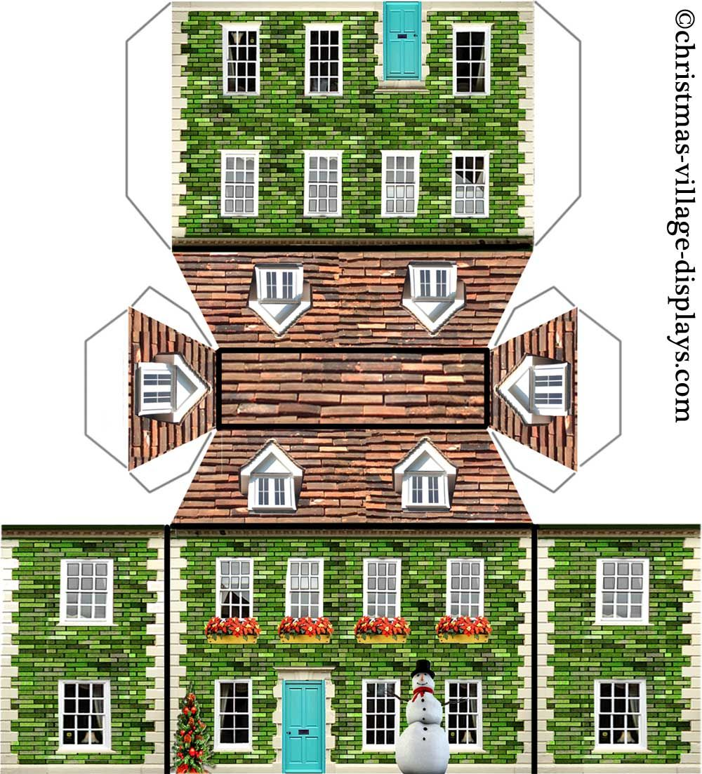 Peppermint 1 000 1 103 pixels paper house for House pattern
