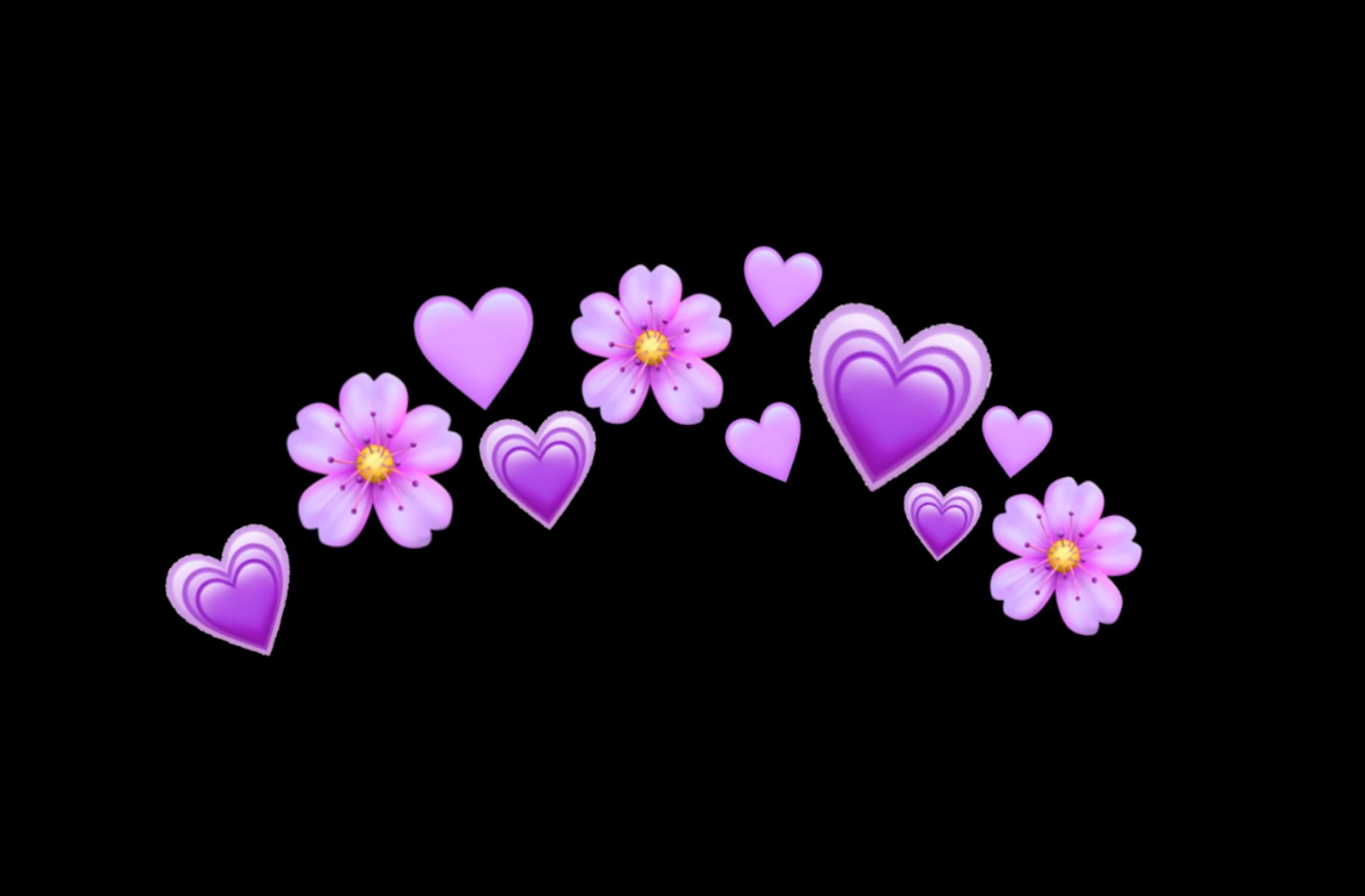 Freetoedit Purple Purpleheart Hearts Heart Crown Heartcrown Tumblr Emoji Emojis Sticker Flowers Flower Pink Heart Emoji Purple Emoji Emoji Flower