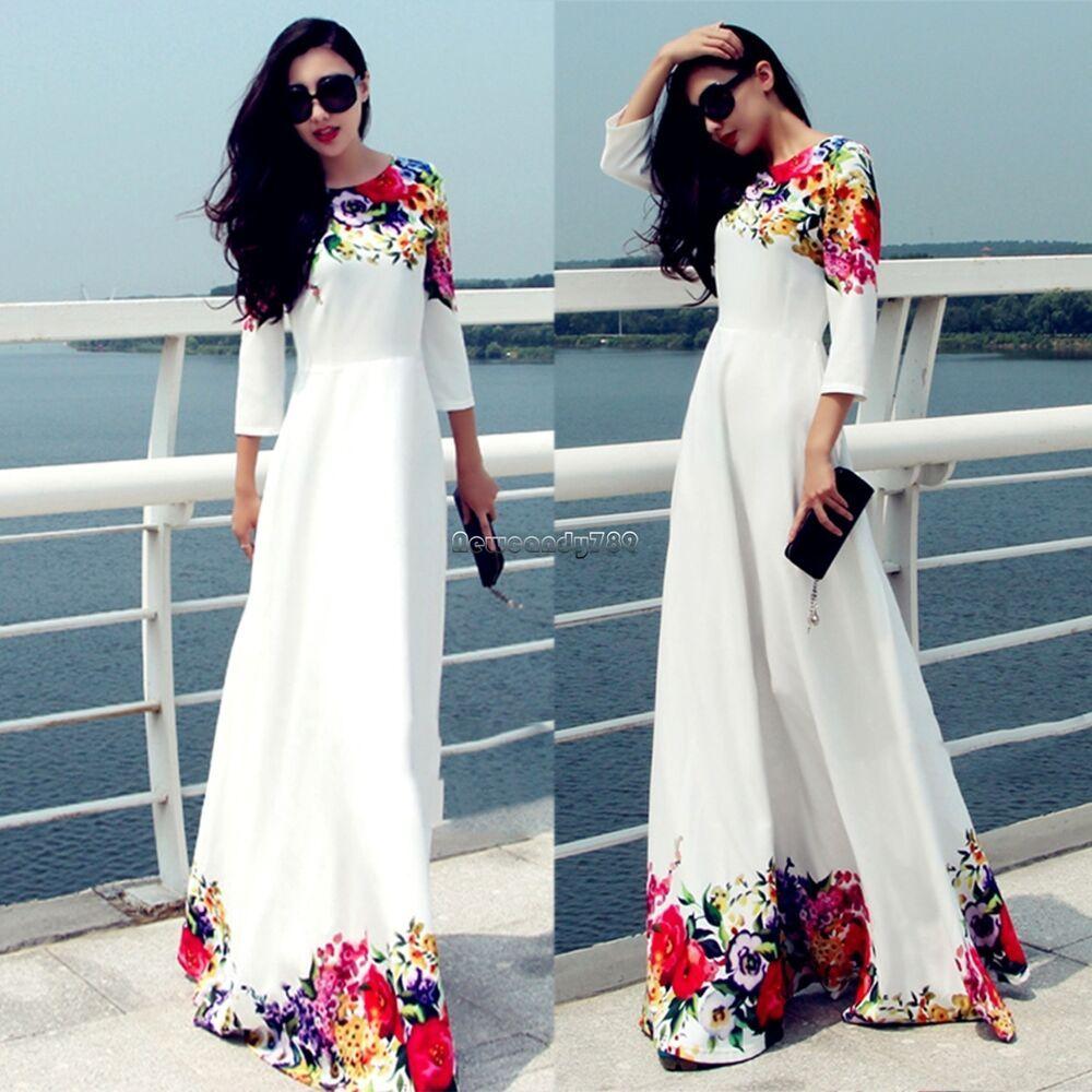 83a06f4e30 Summer Women Boho Floral Cocktail Party Evening Long Maxi Dress Chiffon  Dresses #Unbranded #FashionElegantMaxiDress  #CasualCocktailPartyEveningClubwear
