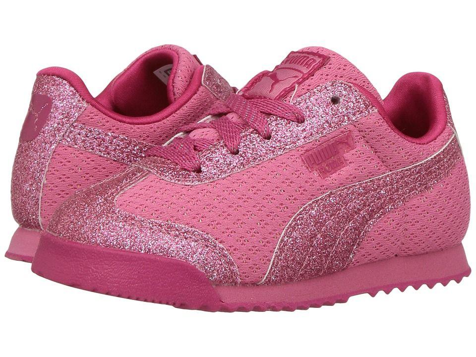 c78428d0abc Puma Kids Roma Glitz Glamm Mesh (Toddler) Girls Shoes Rapture Rose Rapture  Rose