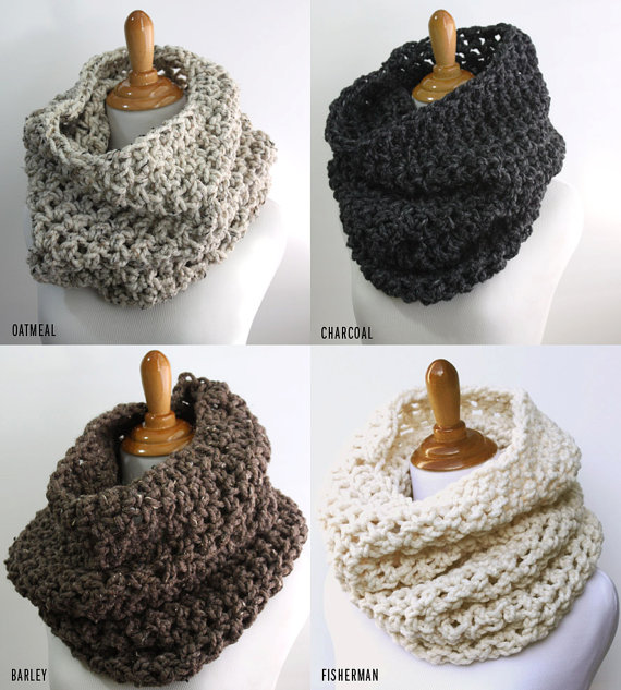 Chunky Cowl Scarf, Snood, Oversized Knit Scarf, Hood Scarf, Pullover ...