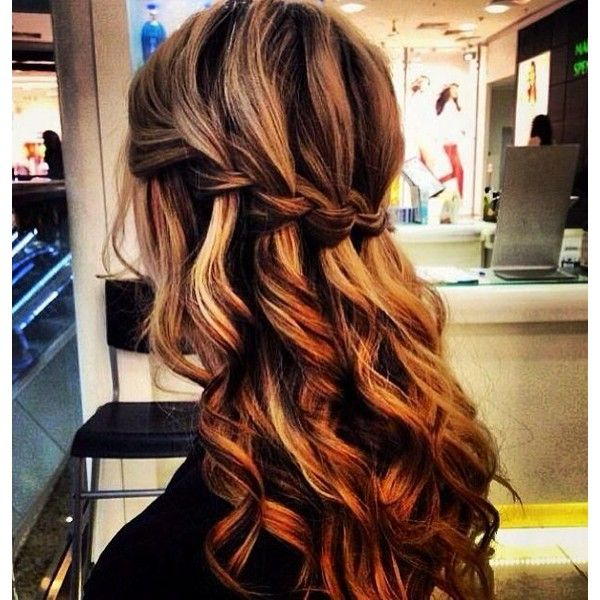 Waterfall Braid Highlights Liked On Polyvore Featuring