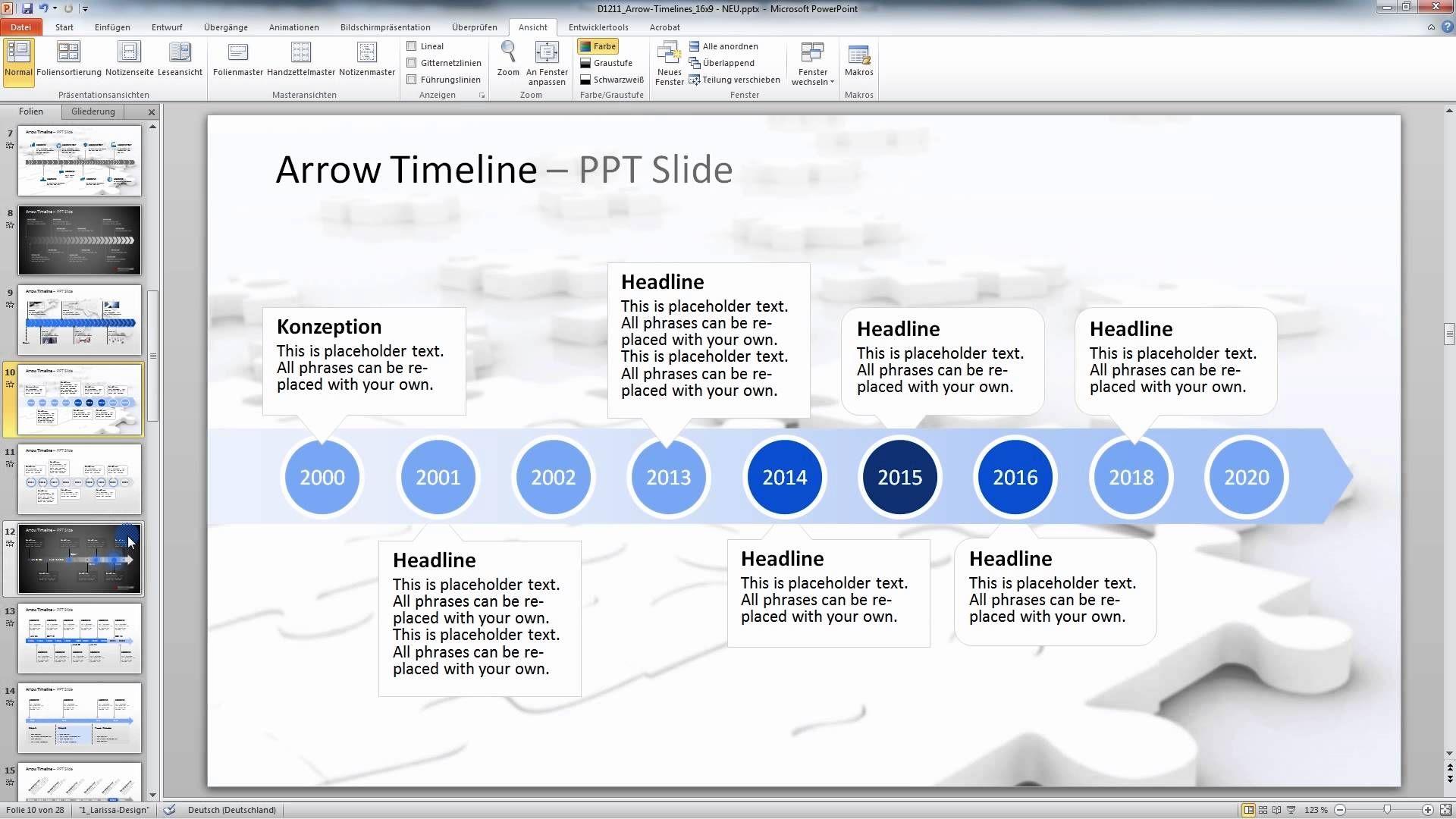 PowerPoint Timelines | VIDEOS // POWERPOINT | Pinterest