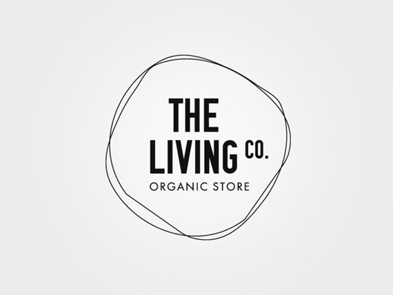 Simple logo design for the living co organic store with two imperfect hand drawn circles also best             images in rh pinterest
