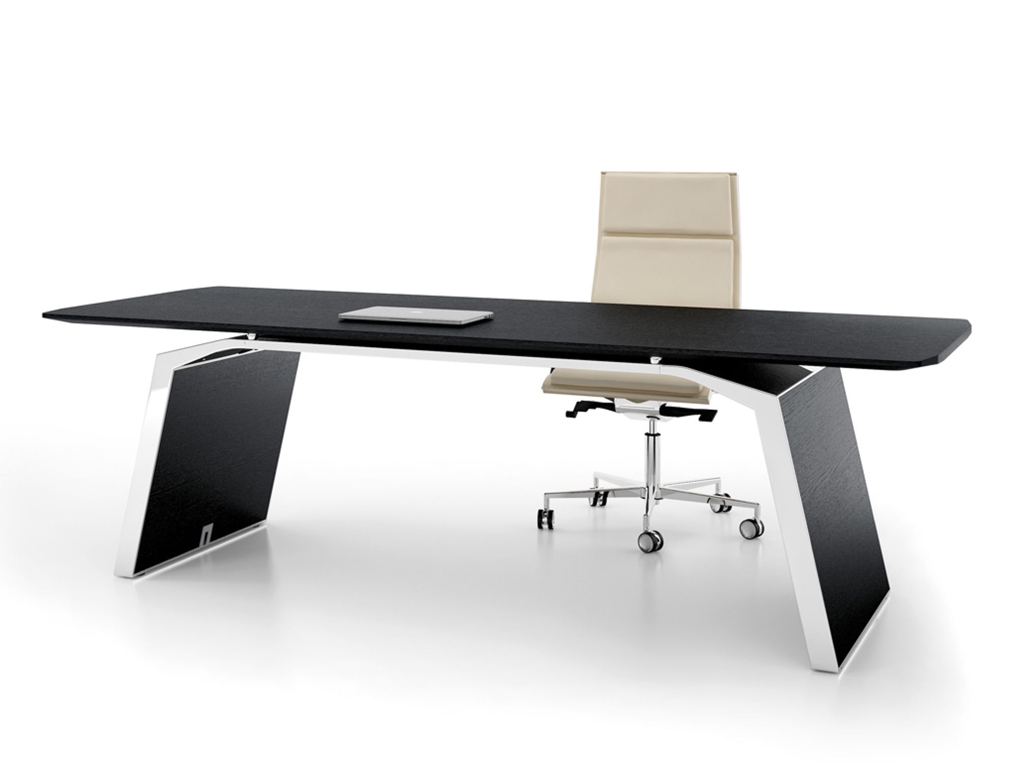 Bralco Metar Executive Schreibtisch 240x100 Cm In Echtholz Furniert Arredamento