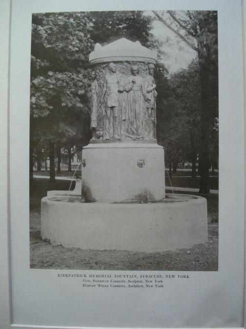 Kirkpatrick Memorial Fountain, Syracuse, NY, 1913, Harvey Wiley Corbett & Gail Sherman Corbett, Sculptor