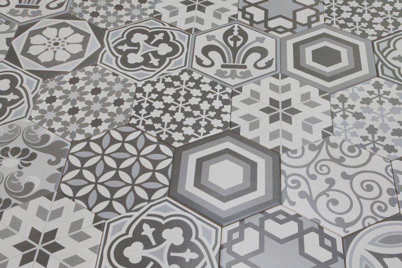 hexagon harmony vintage bathrooms wall tiles and bath. Black Bedroom Furniture Sets. Home Design Ideas