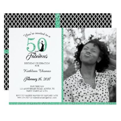 50 and fabulous 50th birthday party invitation glitter glamour 50 and fabulous 50th birthday party invitation glitter glamour brilliance sparkle design idea diy elegant glitter pinterest 50th birthday party stopboris Gallery