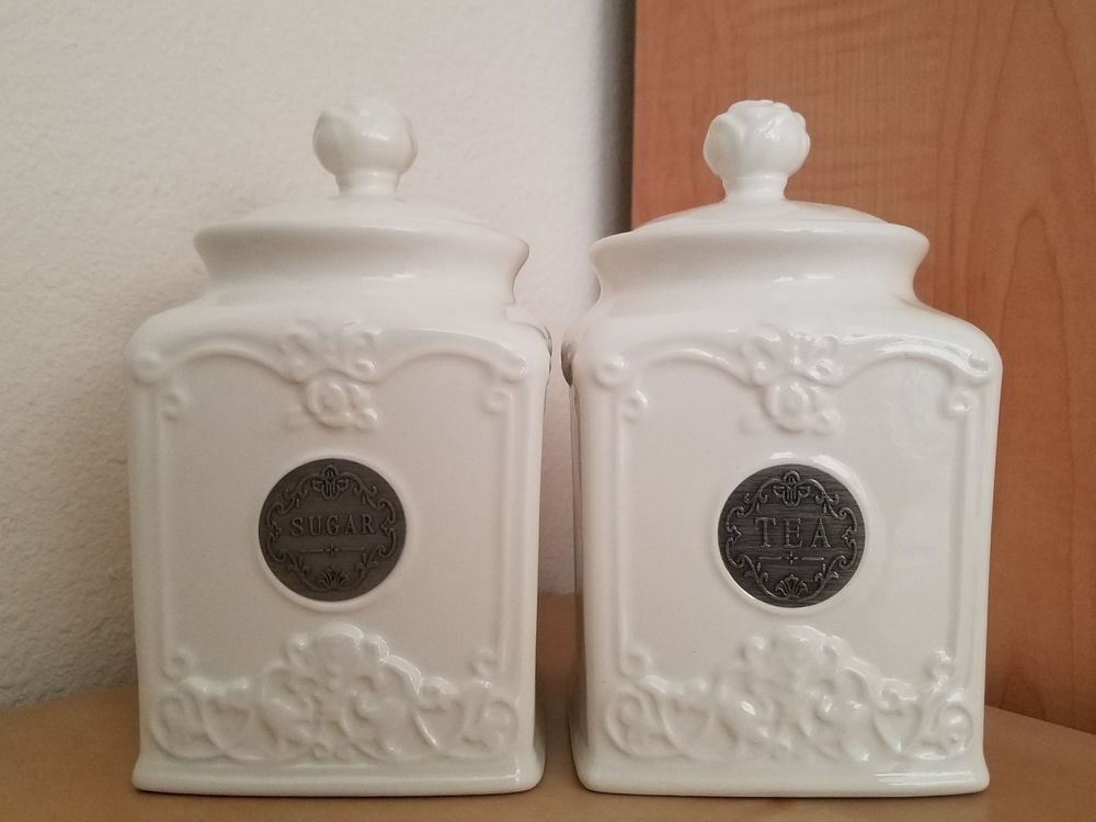 THL Farmhouse French Chic Rose Top Sugar Canister NEW