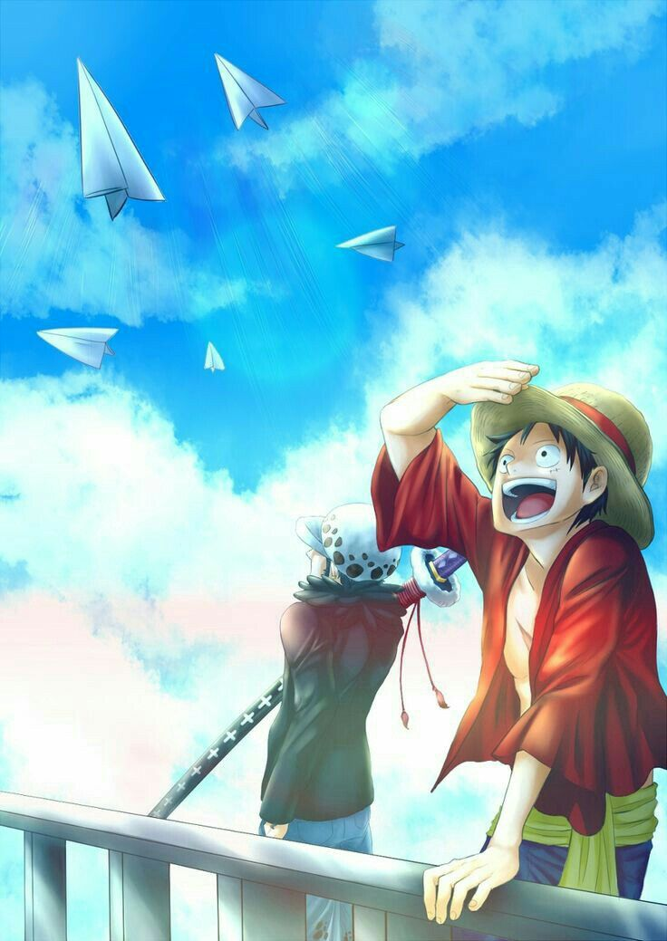 One piece anime art wallpaper for iPhone.